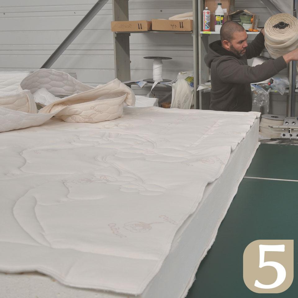 fabrication d'un matelas en latex naturel