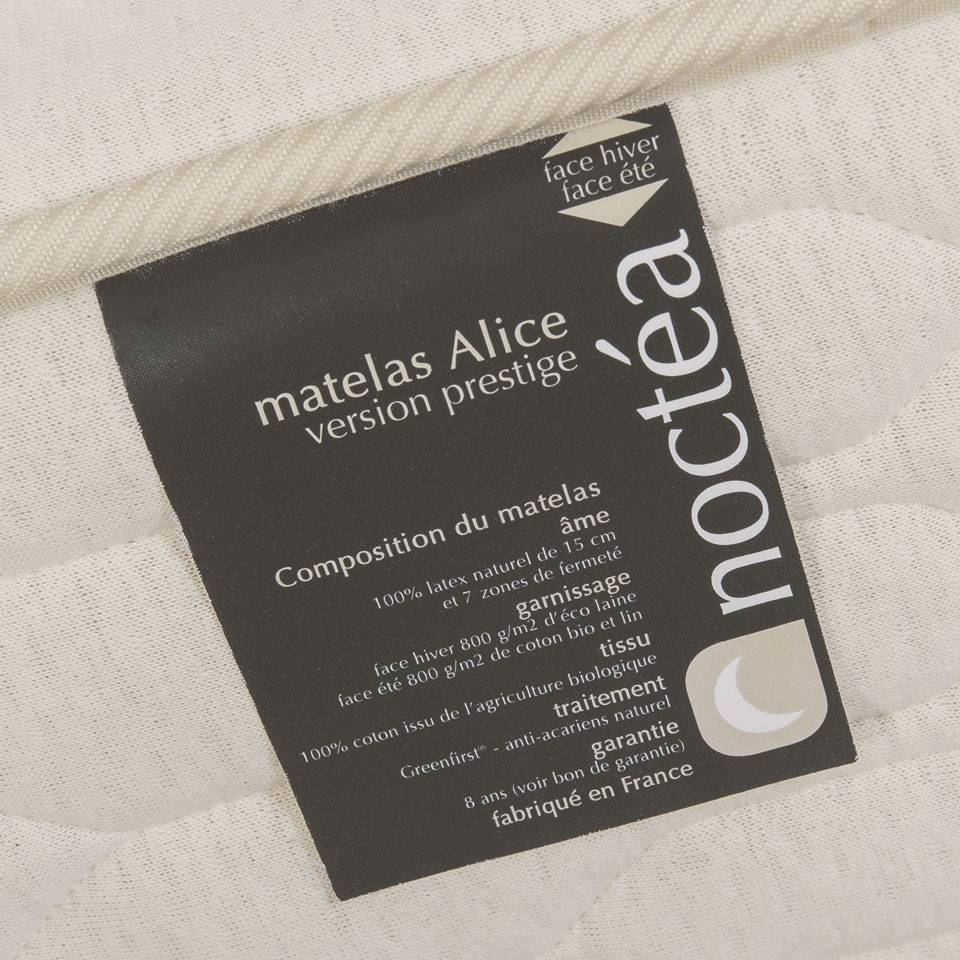 Matelas latex naturel Alice