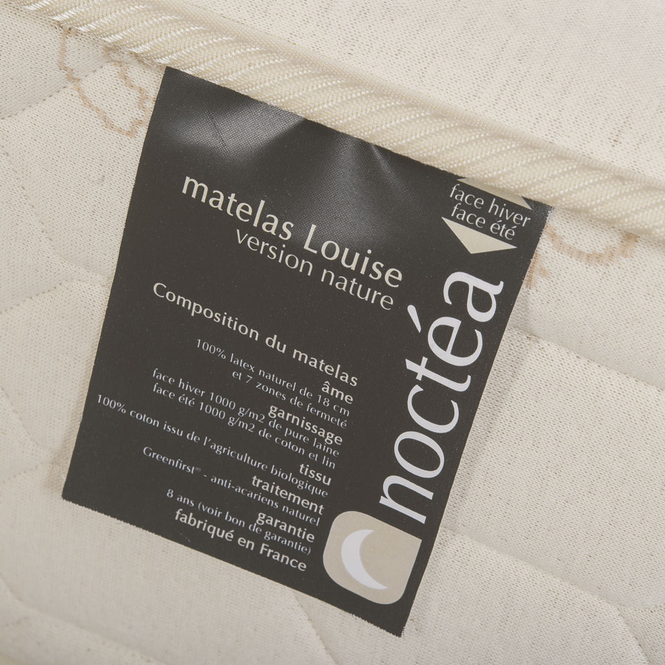 Le confort englobant du matelas latex naturel Louise