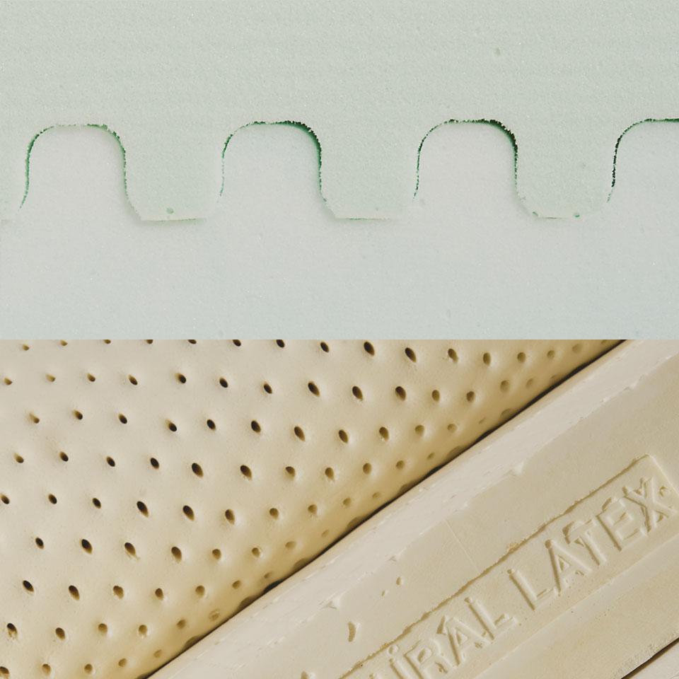 Différence entre la mousse et le latex