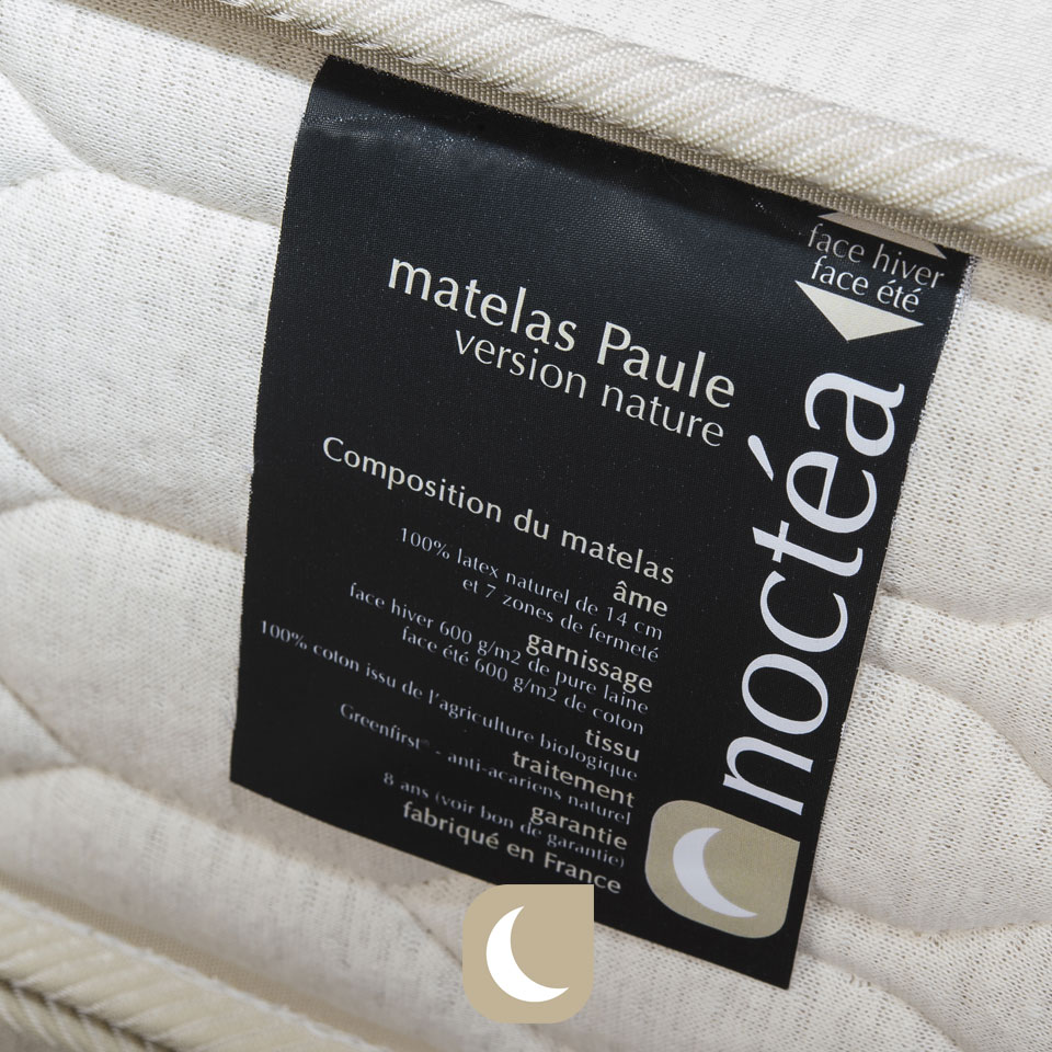 matelas latex naturel Paule